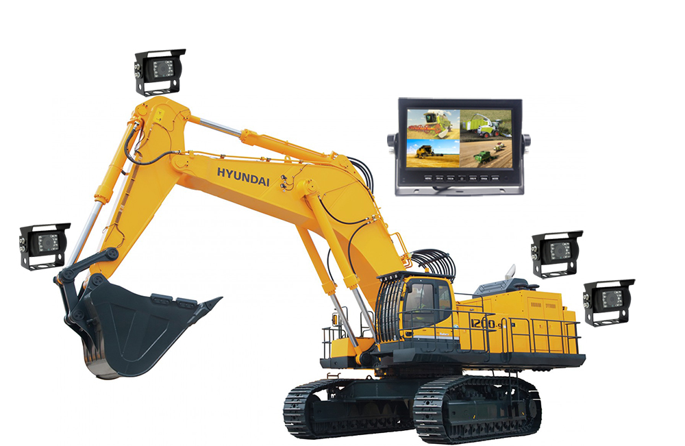 universal backup cameras construction machinery