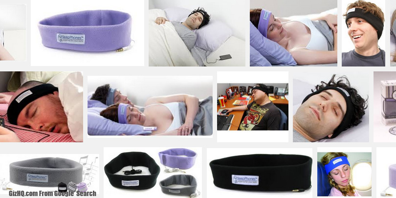 sleepphones headphones on sleeping
