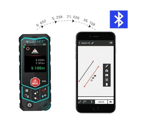 laser meter with bluetooth
