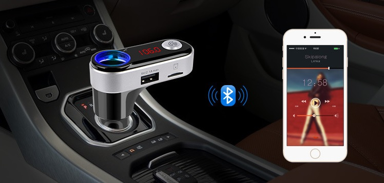 fm transmitter with bluetooth usb sd slot