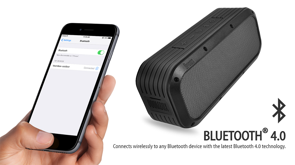 voombox outdoor bluetooth portable speaker