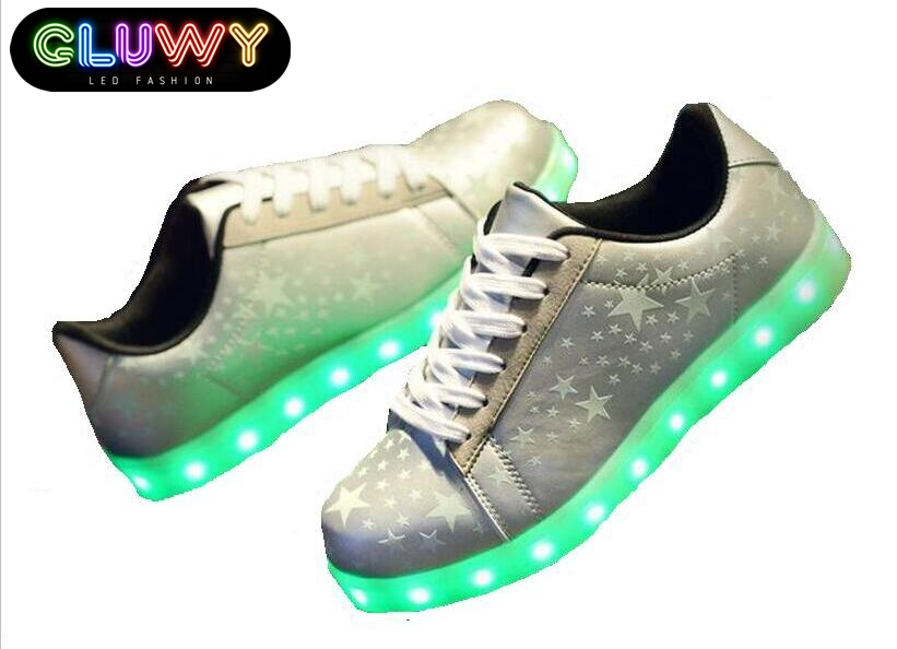 soled shoes with illuminating