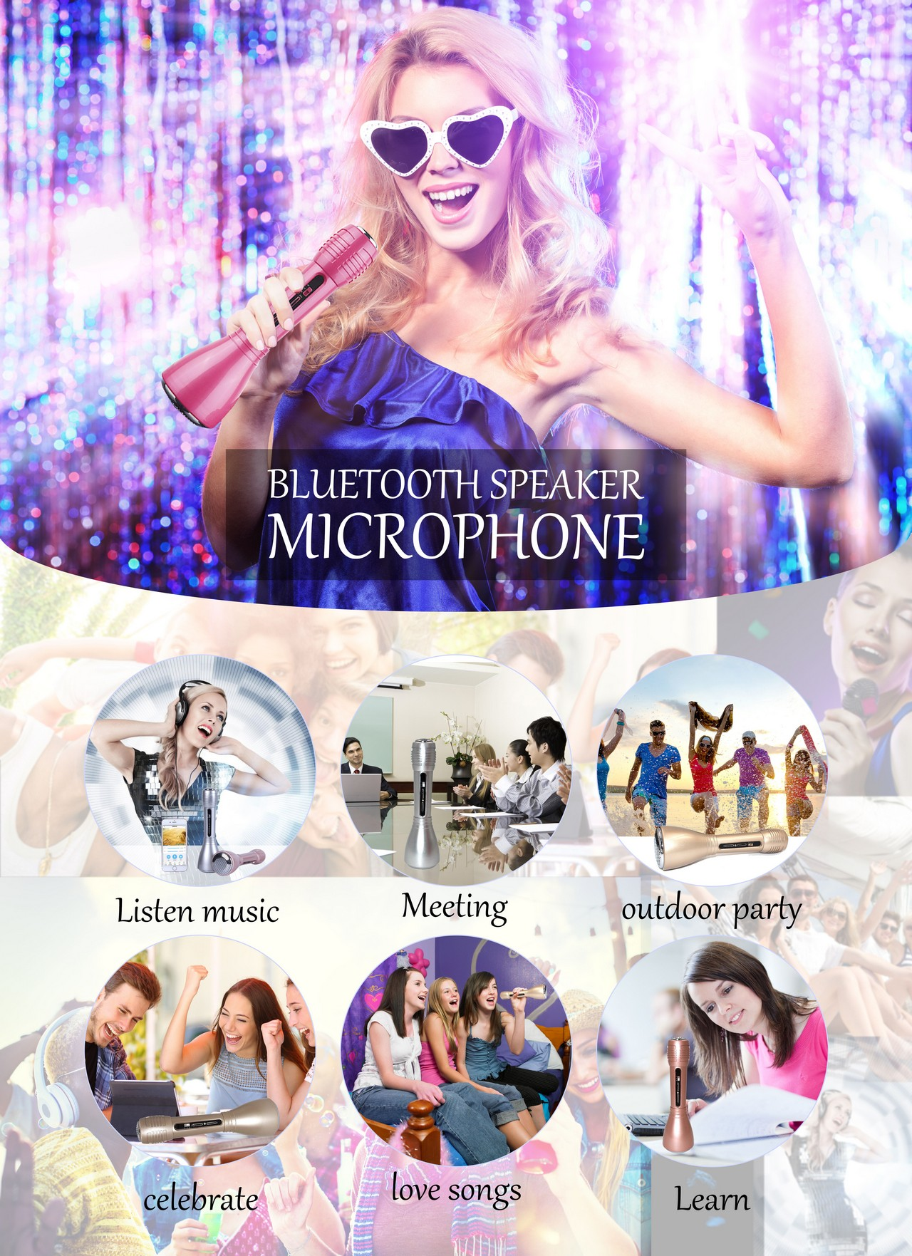 party bluetooth microphone