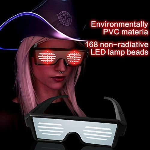 led illuminated glasses with animations