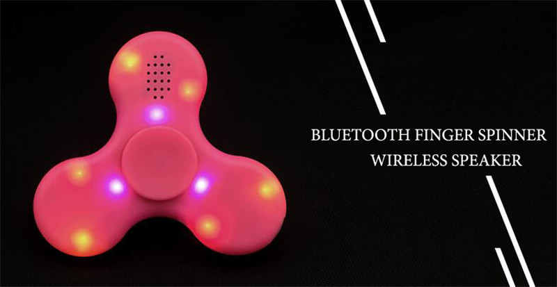Led bluetooth fidget spinner