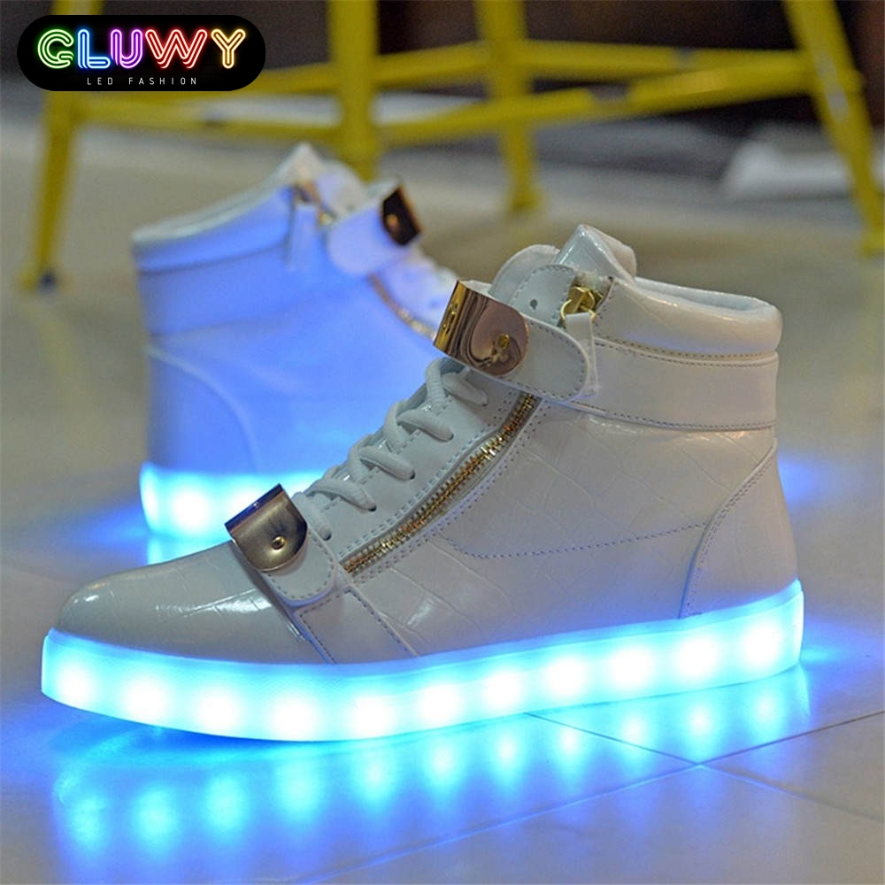 flashing sneakers gluwy