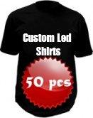 custom led t-shirt